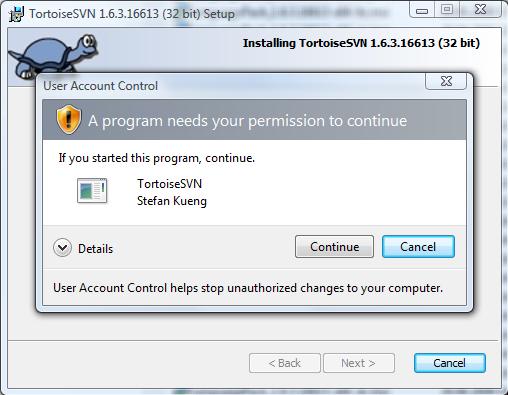 Verify the MSI signature · TortoiseSVN