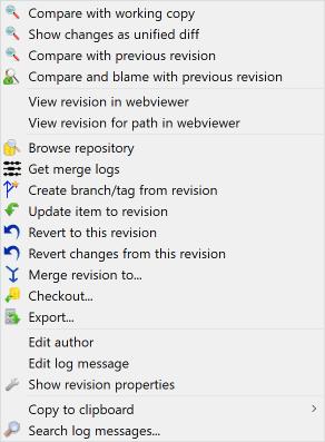 revision log dialog